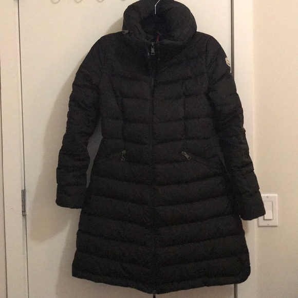 1ac58cd50 ... italy gently used moncler black down coat size 2 4ee5a d4b32